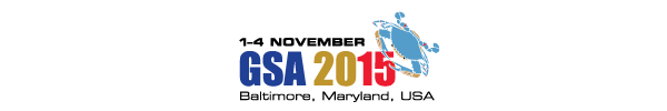 2015 GSA Annual Meeting in Baltimore, Maryland, USA (1-4 November 2015)